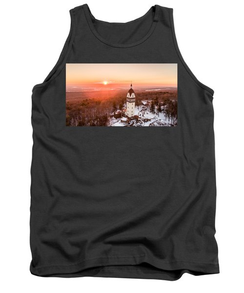 Heublein Tower In Simsbury, Connecticut Tank Top by Petr Hejl