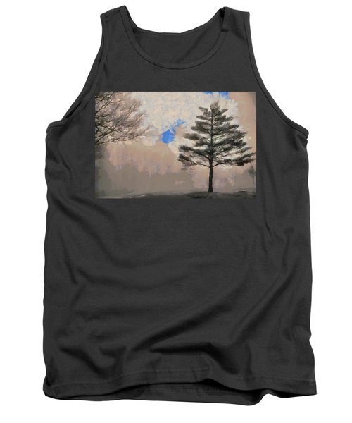 Tank Top featuring the mixed media Hickory by Trish Tritz