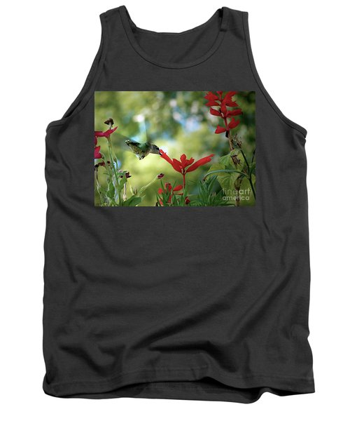 Hummingbird Delight Tank Top by Sue Stefanowicz