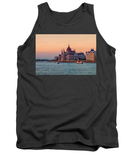 Hungarian Parliament Building In Budapest, Hungary Tank Top