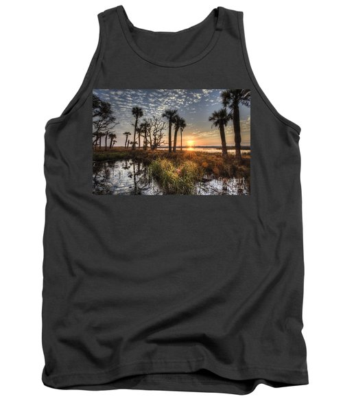 Hunting Island State Park Beach Sunrise Tank Top