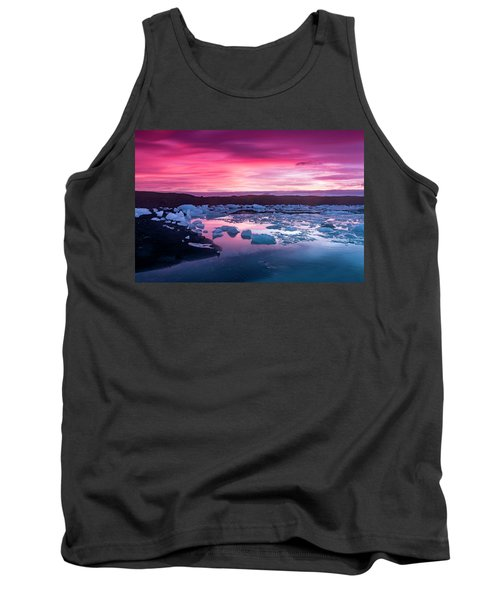 Iceberg In Jokulsarlon Glacial Lagoon Tank Top by Joe Belanger