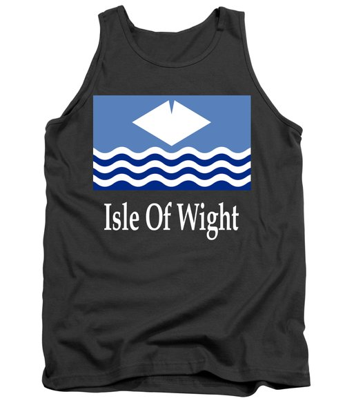 Isle Of Wight, England Flag And Name Tank Top