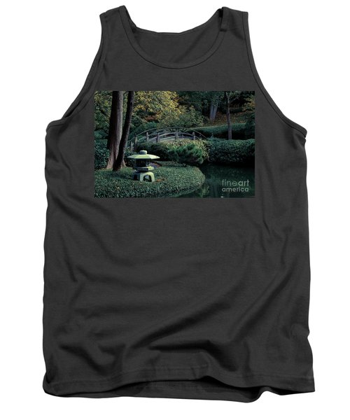 Tank Top featuring the photograph Japanese Garden In Summer by Iris Greenwell