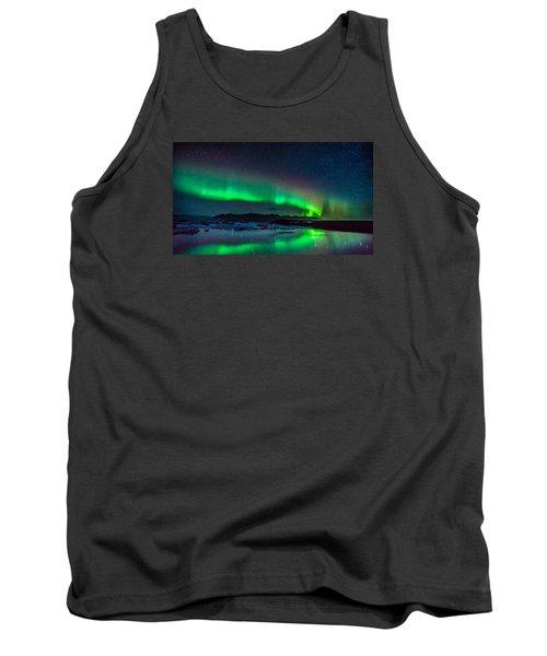 Jokulsarlon Aurora Tank Top