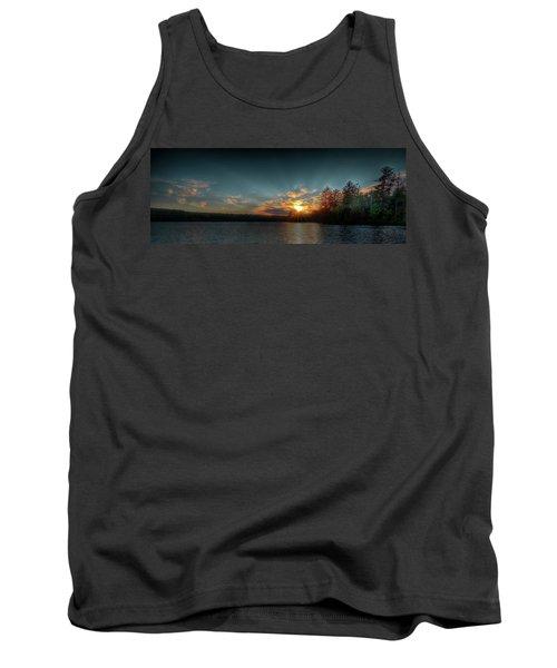 June Sunset On Nicks Lake Tank Top by David Patterson