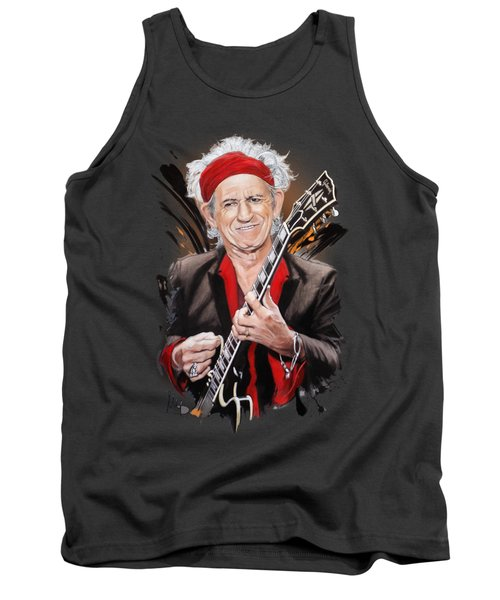 Keith Richards Tank Top by Melanie D
