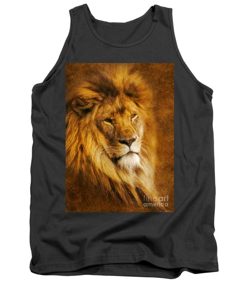 Tank Top featuring the digital art King Of The Beasts by Ian Mitchell
