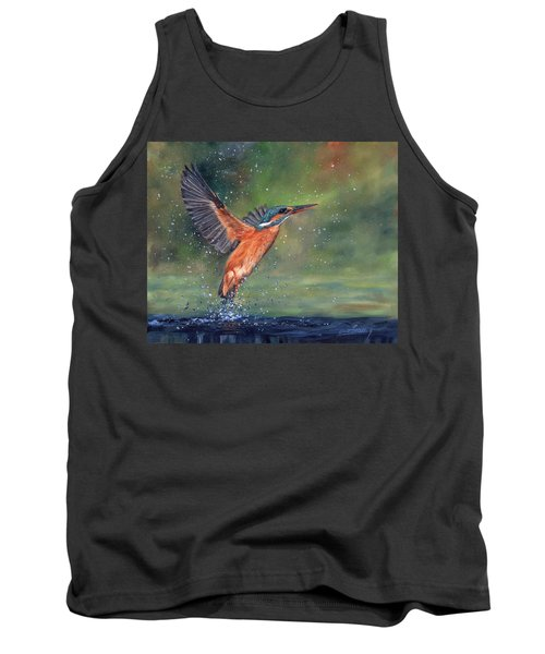Tank Top featuring the painting Kingfisher by David Stribbling