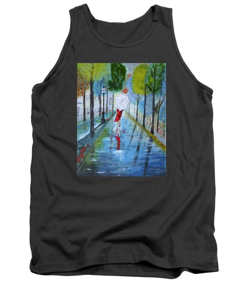 Lady In Red Original Version Tank Top by Dick Bourgault