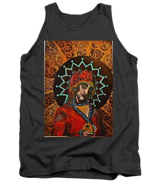 Tank Top featuring the painting Lady Of Spades by Sandro Ramani