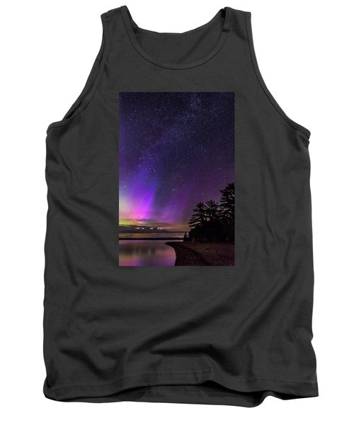 Lake Winnipesaukee Aurora Borealis Tank Top