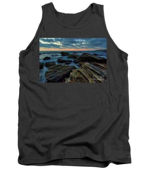 Last Light At Crystal Cove Tank Top