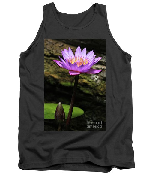 Lavender Water Lily #4 Tank Top