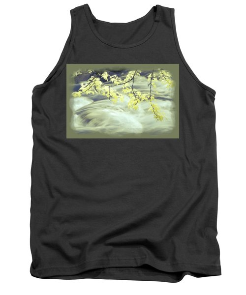 Leaves Over Gossamer Waters Tank Top