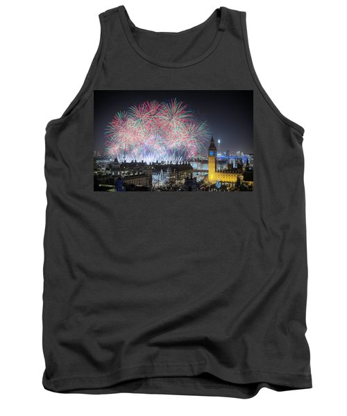 London New Year Fireworks Display Tank Top