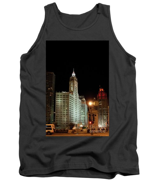 Looking North On Michigan Avenue At Wrigley Building Tank Top