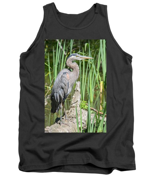 Lost Lagoon Heron Tank Top by Ross G Strachan