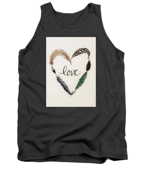Tank Top featuring the painting Feathers Of Love by Elizabeth Robinette Tyndall
