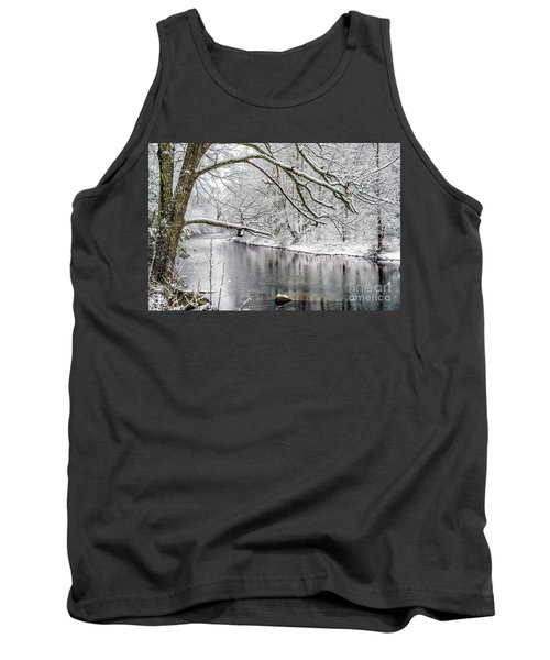 Tank Top featuring the photograph March Snow Along Cranberry River by Thomas R Fletcher