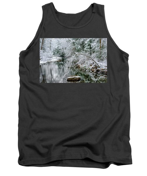 Tank Top featuring the photograph March Snow Cranberry River by Thomas R Fletcher
