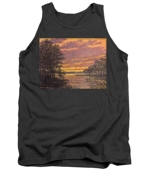 Tank Top featuring the painting Marsh Sketch # 7 by Kathleen McDermott