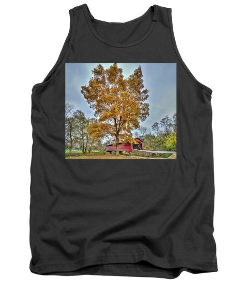 Maryland Covered Bridge In Autumn Tank Top