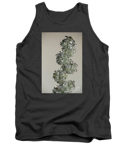 Meadow Flower And Drops Tank Top by Odon Czintos