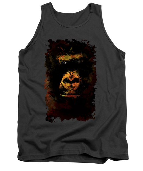 Tank Top featuring the photograph Mighty Gorilla by Jaroslaw Blaminsky