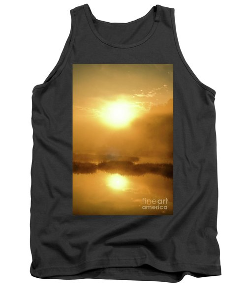 Tank Top featuring the photograph Misty Gold by Tatsuya Atarashi