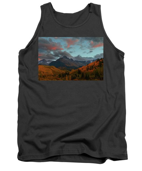 Mount Sneffels Sunset During Autumn In Colorado Tank Top