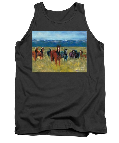 Mustangs In Southern Colorado Tank Top