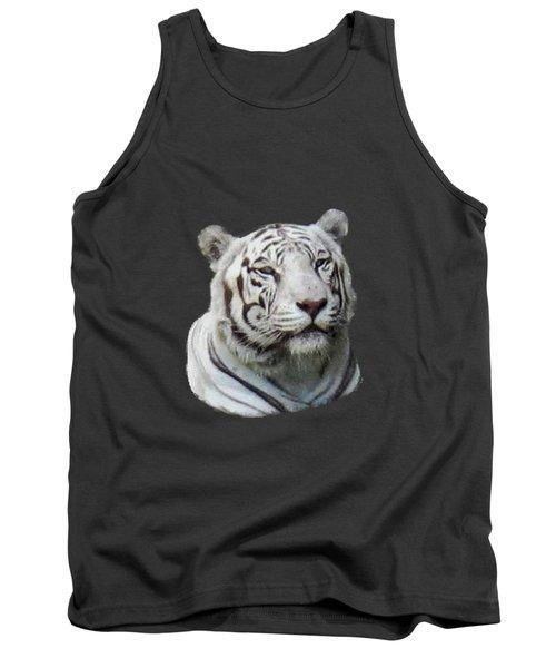 Namaste White Tiger Tank Top