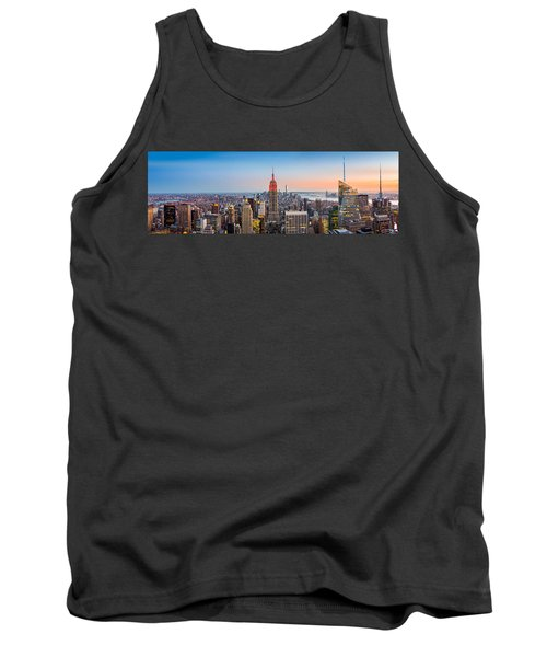 New York Skyline Panorama Tank Top
