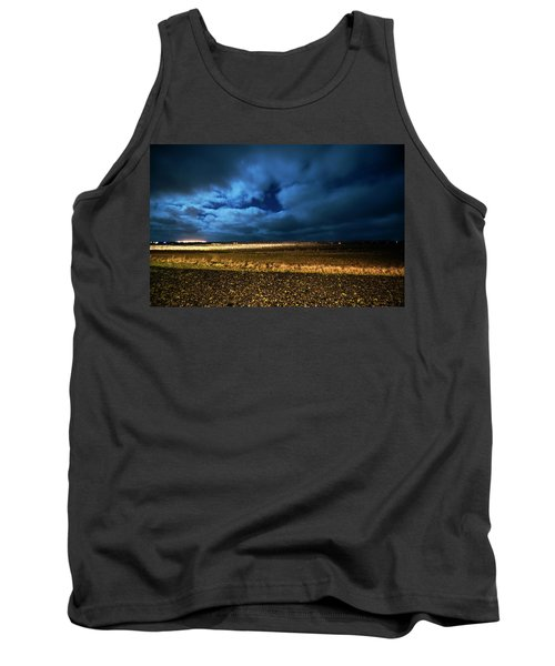 Tank Top featuring the photograph Icelandic Night  by Dubi Roman