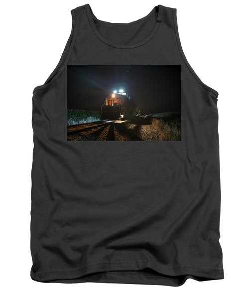 Tank Top featuring the photograph Night Train by Aaron J Groen