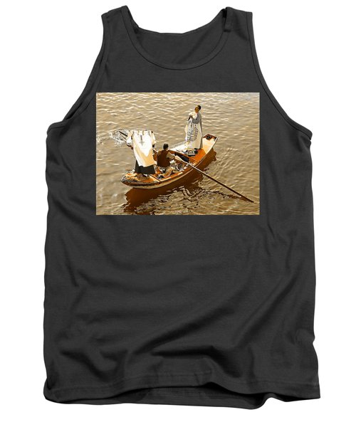 Tank Top featuring the photograph Nile River Merchants by Joseph Hendrix