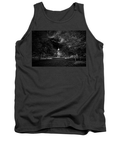 Tank Top featuring the photograph Notre Dame University Black White by David Haskett