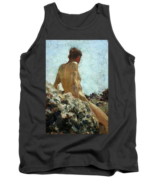 Tank Top featuring the painting Nude Study by Henry Scott Tuke