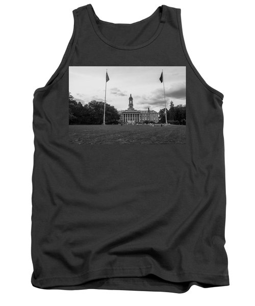 Old Main Penn State Black And White  Tank Top
