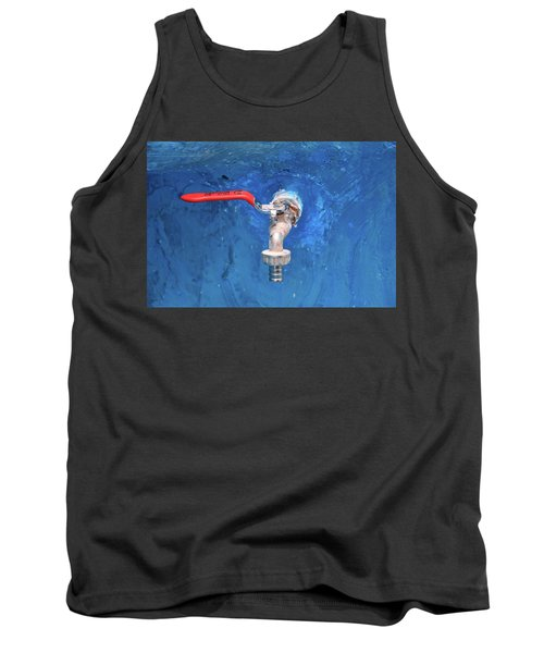 Out Of The Blue Tank Top by Jez C Self