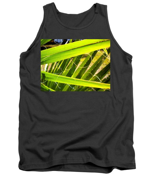 Tank Top featuring the painting Palmetto 3 by Renate Nadi Wesley