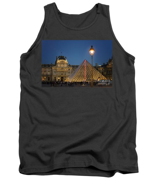 Louvre Museum At Twilight Tank Top by Juli Scalzi
