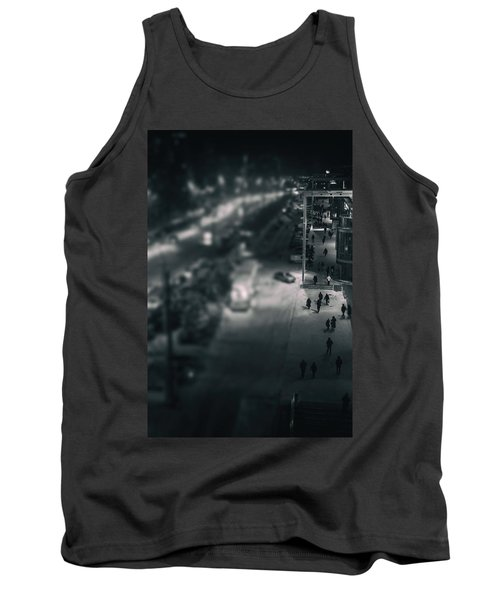 People At Night From Arerial View Tank Top