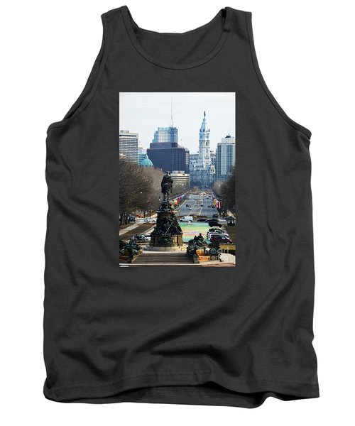 Philadelphia - The Parkway Tank Top by Cindy Manero