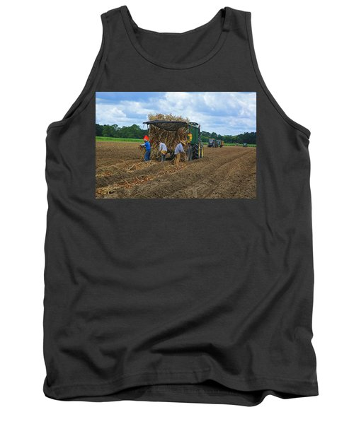 Planting Sugarcane Tank Top by Ronald Olivier