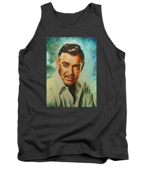 Portrait Of Clark Gable Tank Top by Charmaine Zoe