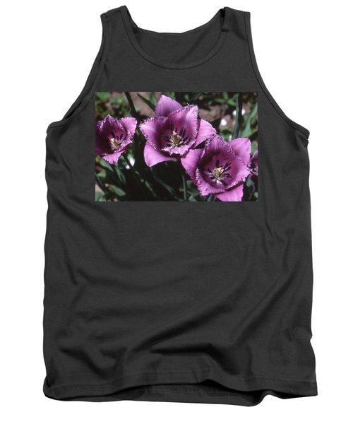 Purple Flowers Two  Tank Top