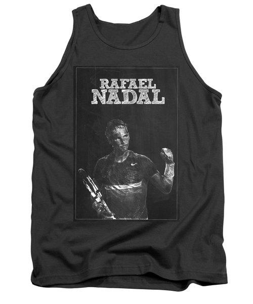 Rafael Nadal Tank Top by Semih Yurdabak
