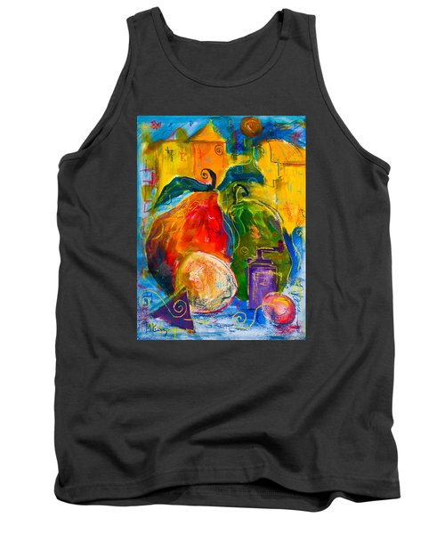 Red And Green Pears Tank Top